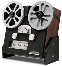 A Moviestuff Retro-8: an easy-to-use home telecine machine that digitally transfers Super8 footage from the comfort of one's home